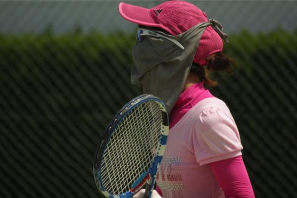 日焼け防止マスク 使用例3