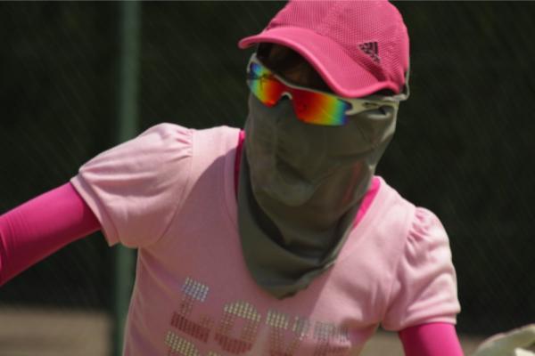 日焼け防止マスク 使用例4