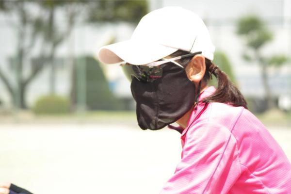 日焼け防止マスク 使用例1