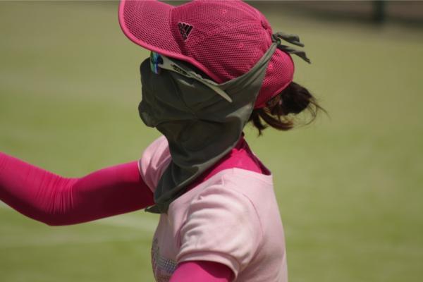 日焼け防止マスク 使用例6
