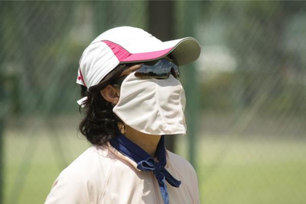 日焼け防止マスク 使用例2