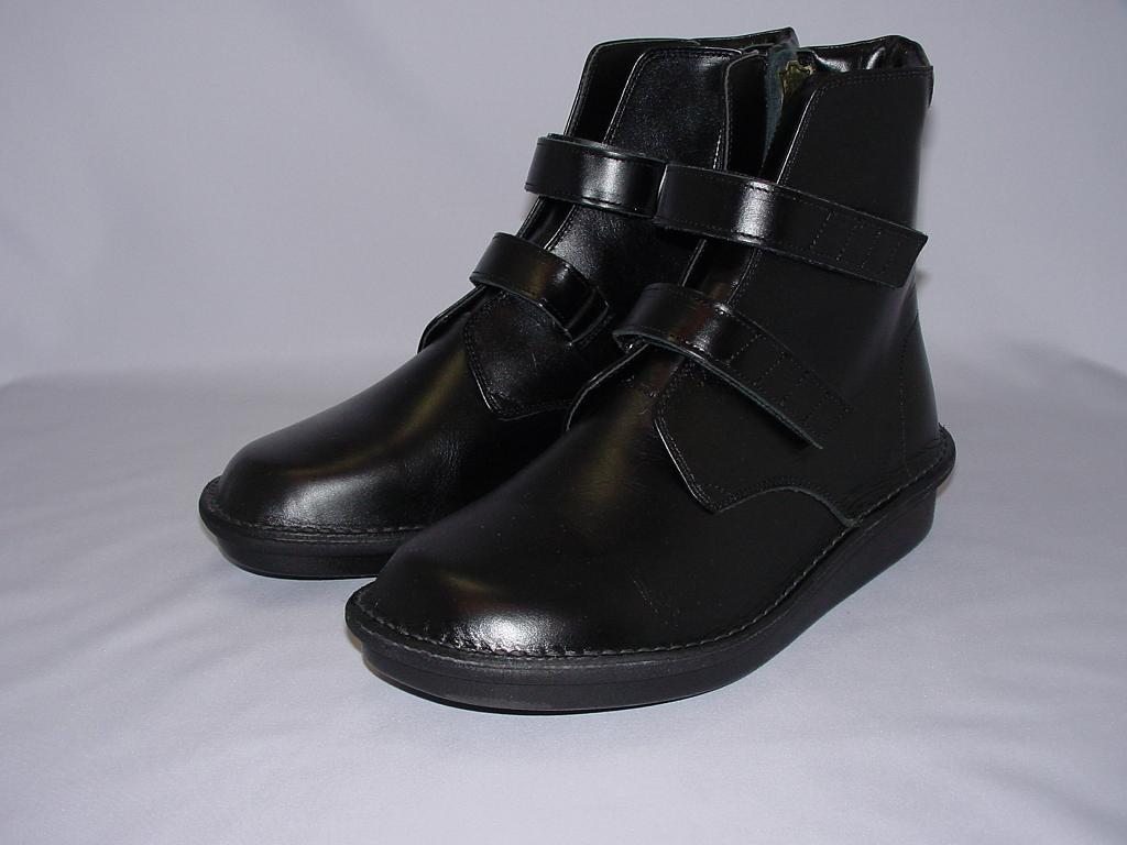 健康靴えこるBL511 ベルトノーマルタイプブーツ ブラック(男性用)